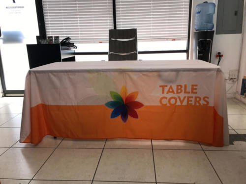 table cover draped